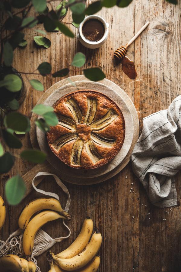banana olive oil cake