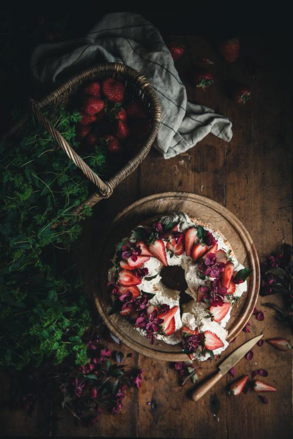 Angel Food Cake + Whipped Cream & Berries