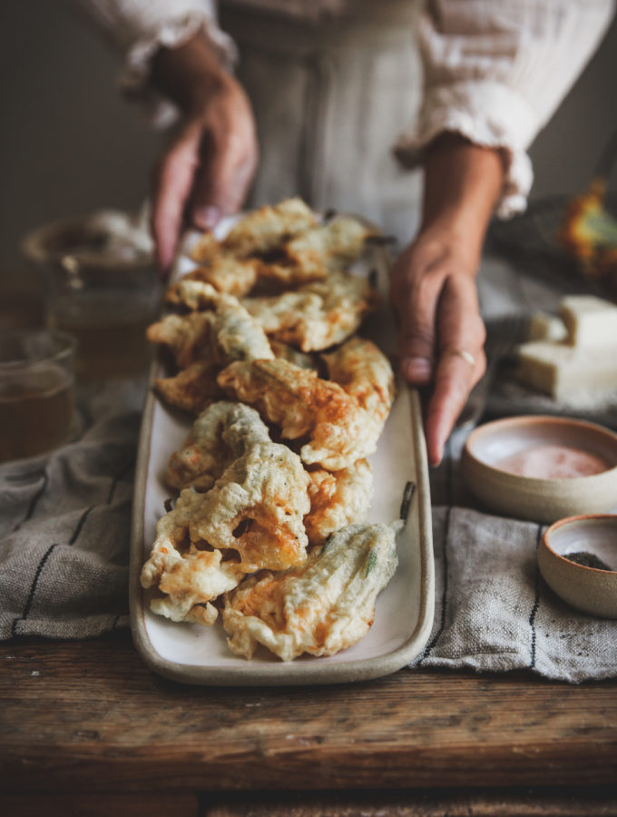 Zucchini Blossom Fritters