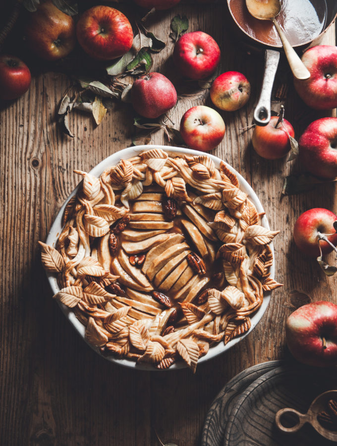 Apple Pie + Pecans & Bourbon Caramel