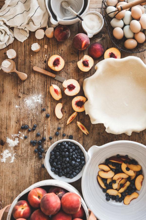 Peach & Blueberry Pie