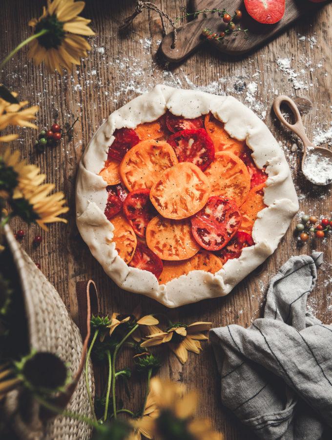 Heirloom Tomato Galette + Herbed Ricotta