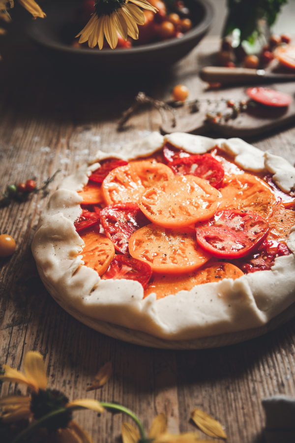 Heirloom Tomato Galette + Herbed Ricotta