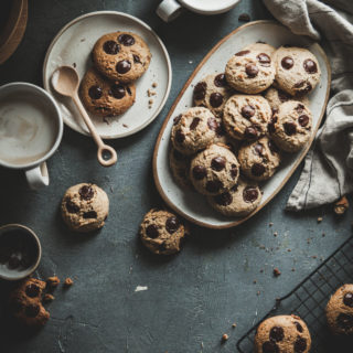 Tahini Olive Oil Chocolate Chip Cookies