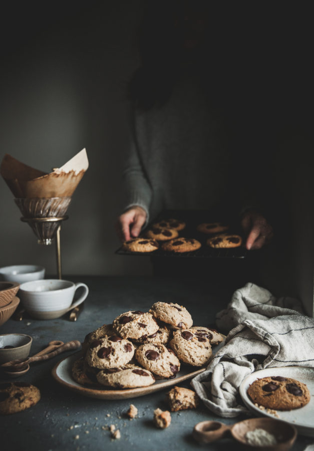 Tahini Olive Oil Chocolate Chip Cookies