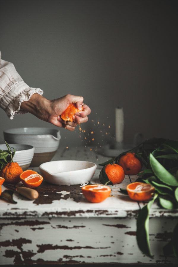 Mandarin Vanilla Bean Olive Oil Cake