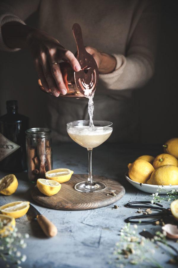Spiced Vanilla Bean Gin Sour