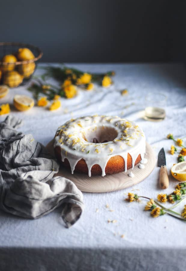 Dandelion Bundt Cake