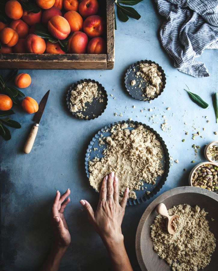 Lemon Posset Tart + Apricot & Pistachio