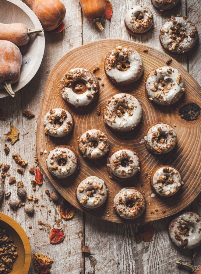Honeynut Baked Doughnuts + Browned Butter White Chocolate